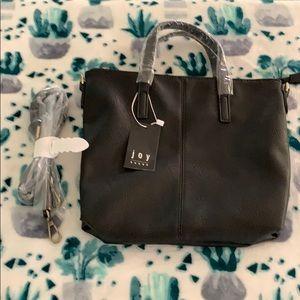 Joy Susan black purse with handles and strap